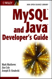 MySQL and Java Developer's Guide