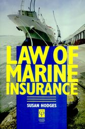 Law of Marine Insurance by Susan Hodges