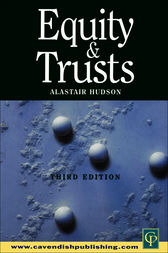 Equity & Trusts by Alastair Hudson