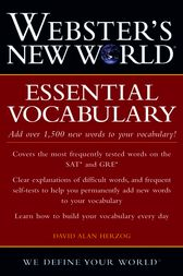 Webster's New World Essential Vocabulary by David Alan Herzog