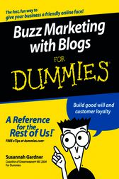 Buzz Marketing with Blogs For Dummies by Susannah Gardner