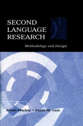 Second Language Research by Alison Mackey