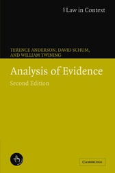 Analysis of Evidence by Terence Anderson