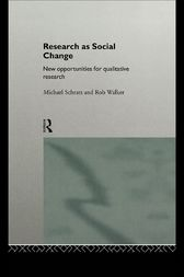 Research as Social Change by Michael Schratz