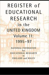 Register of Educational Research in the United Kingdom by National Foundation For Educational Research