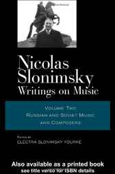 Nicolas Slonimsky Writings On Music Vol 2 by Nicolas Slonimsky