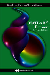 MATLAB Primer, Seventh Edition by Kermit Sigmon
