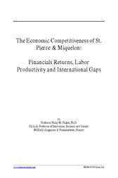 The Economic Competitiveness of St. Pierre & Miquelon by Philip M. Parker