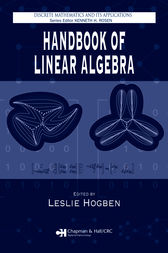 Handbook of Linear Algebra by Leslie Hogben
