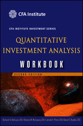 Quantitative Investment Analysis by Richard A. DeFusco