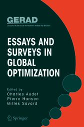 Essays and Surveys in Global Optimization by Charles Audet