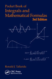 Pocket Book of Integrals and Mathematical Formulas by Ronald J. Tallarida