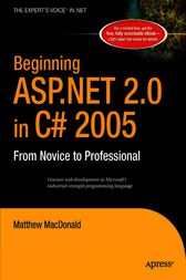 Beginning ASP.NET 2.0 in C# 2005 by Matthew MacDonald