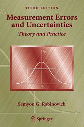 Measurement Errors and Uncertainties by Semyon G Rabinovich