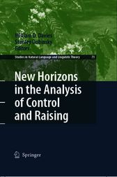 New Horizons in the Analysis of Control and Raising by William D. Davies