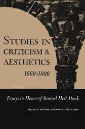 Studies in Criticism and Aesthetics, 1660-1800 by Howard Anderson