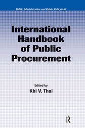 International Handbook of Public Procurement by Khi V. Thai