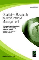 The Role and Status of Qualitative Methods in Contemporary Accounting Research by Sven Modell