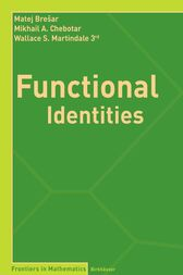 Functional Identities by Matej Brešar