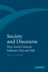 Society and Discourse by Teun A. van Dijk