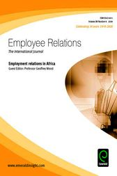 Employment Relations in Africa by Geoffrey Wood