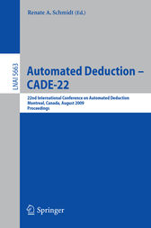 Automated Deduction by Renate A. Schmidt