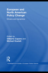 European and North American Policy Change by Giliberto Capano