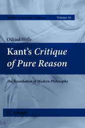 Kant's Critique of Pure Reason by Otfried Hoffe