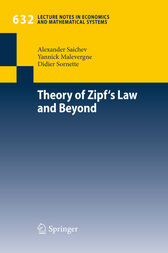 Theory of Zipf's Law and Beyond by Alexander I. Saichev