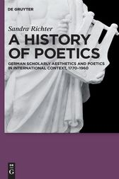A History of Poetics by Sandra Richter