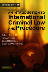 An Introduction to International Criminal Law and Procedure by Robert Cryer