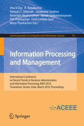 Information Processing and Management by Vinu V Das