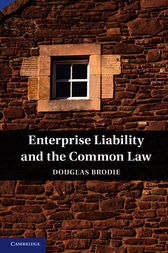 Enterprise Liability and the Common Law by Douglas Brodie