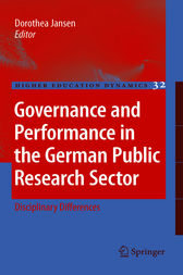 Governance and Performance in the German Public Research Sector by Dorothea Jansen