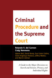 Criminal Procedure and the Supreme Court by Rolando V. del Carmen