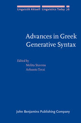 Advances in Greek Generative Syntax by Melita Stavrou