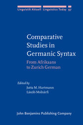 Comparative Studies in Germanic Syntax by Jutta M. Hartmann