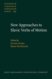 New Approaches to Slavic Verbs of Motion