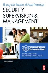 Security Supervision and Management by IFPO;  Sandi J Davies