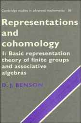 Representations and Cohomology: Volume 1, Basic Representation Theory of Finite Groups and Associative Algebras