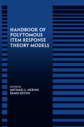 Handbook of Polytomous Item Response Theory Models by Michael L. Nering