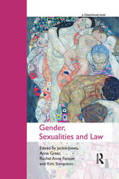 Gender, Sexualities and Law by Jackie Jones