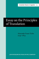 Essay on the Principles of Translation (3rd rev. ed., 1813)