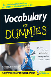 Vocabulary For Dummies by Laurie E. Rozakis