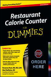 Restaurant Calorie Counter For Dummies by Rust;  Meri Raffetto
