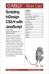Scripting InDesign CS3/4 with JavaScript by Peter Kahrel