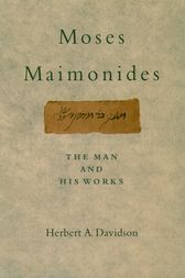 Moses Maimonides by Herbert Davidson