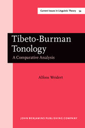 Tibeto-Burman Tonology by Alfons Weidert
