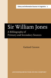 Sir William Jones by Garland Cannon