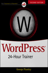 WordPress 24-Hour Trainer by George Plumley